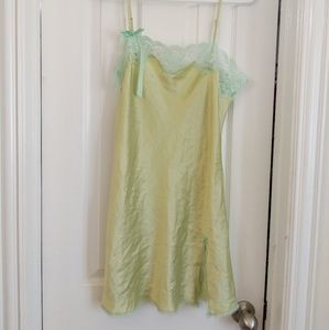 Nightgown with leave trim.